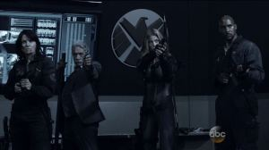 Hartley-Gonzales-Bobbi-and-Mack-await-the-onslaught.-Agents-of-SHIELD-S2Ep15-One-Door-Closes-Review