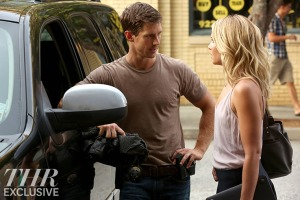 "The Originals — ""You Hung the Moon"" — Image Number: OG302b_0230.jpg — Pictured (L-R): Jason Dohring as Detective Will Kinney and Leah Pipes as Cami — Photo: Quantrell Colbert/The CW — © 2015 The CW Network, LLC. All rights reserved."