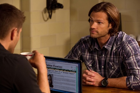 """Supernatural -- """"Love Hurts"""" -- Image SN1113B_0282.jpg -- Pictured (L-R): Jensen Ackles as Dean and Jared Padalecki as Sam -- Photo: Jack Rowand /The CW -- © 2016 The CW Network, LLC. All Rights Reserved"""
