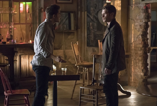 "The Vampire Diaries -- ""Moonlight on the Bayou"" -- Image Number: VD714a_0219.jpg -- Pictured (L-R): Paul Wesley as Stefan and Joseph Morgan as Klaus -- Photo: Annette Brown/The CW -- © 2016 The CW Network, LLC. All rights reserved."