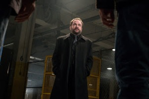 """Supernatural -- """"Hell's Angel"""" -- Image SN1118B_0035.jpg -- Pictured: Mark Sheppard as Crowley -- Photo: Liane Hentscher /The CW -- © 2016 The CW Network, LLC. All Rights Reserved"""