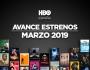 Novedades de HBO paramarzo