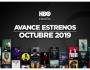 Estrenos de HBO para octubre2019