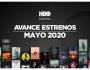 Estrenos de HBO para mayo de2020