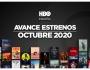 Estrenos de HBO para octubre de2020