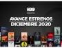 Estrenos de HBO para diciembre de2020
