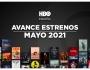 Estrenos de HBO para mayo de2021