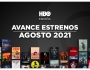 Estrenos de HBO para agosto de2021