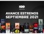 Estrenos de HBO para septiembre de2021